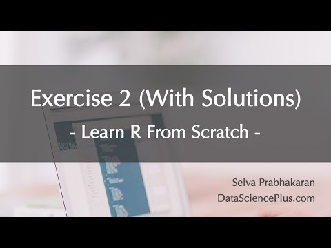 R Tutorial 30: Practice exercise 2 (with solutions)