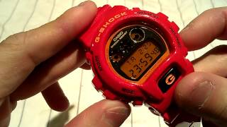 casio g shock watch review model dw 6900cb 4 red with mirror dial