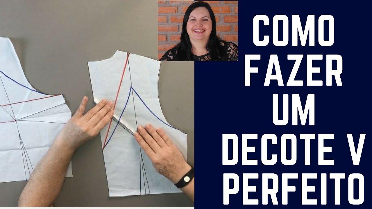c218afdfab DIY - Como fazer um Decote V Perfeito - YouTube