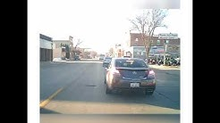 Dumbass driver in Omro, WI