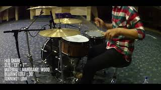 FAD Drums: Sound Lab & Review Snare (Mahogany Wood)