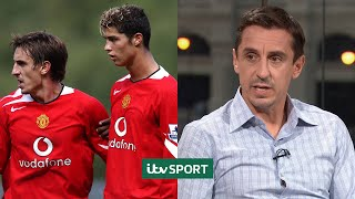 He was erratic! - Gary Neville on Cristiano Ronaldo's evolution   ITV Sport Archive