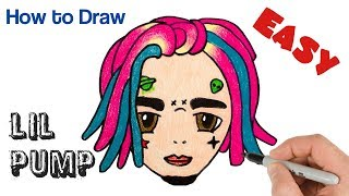 How to Draw Lil Pump Cute and Easy
