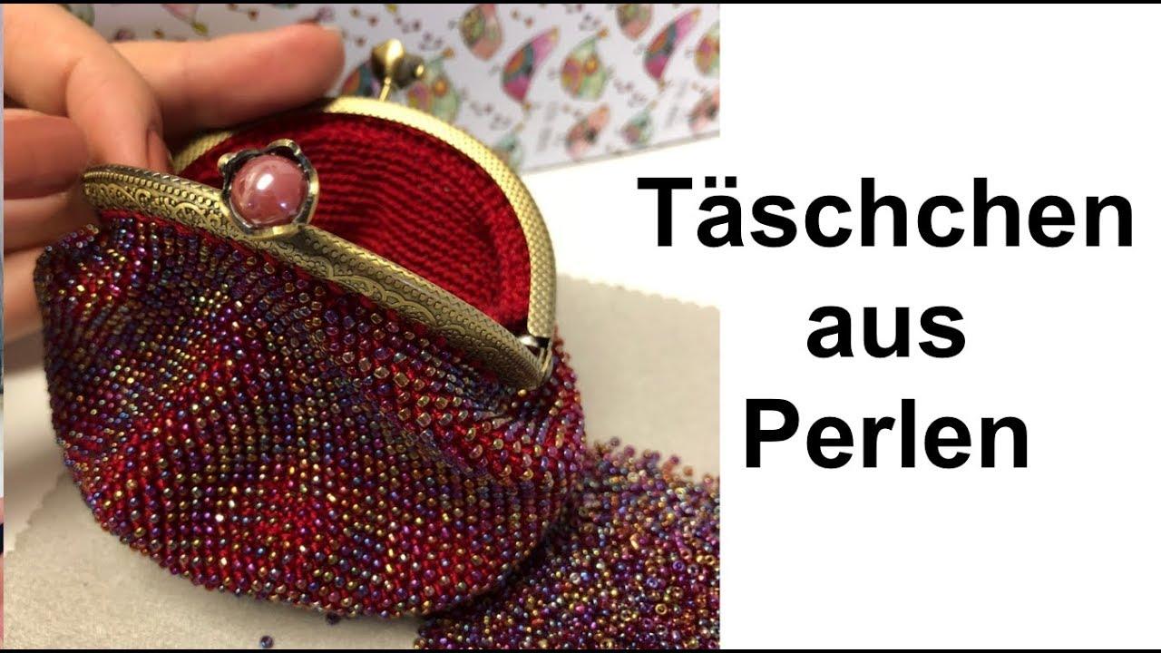 Diy Täschchen Aus Perlen Geldbeutel Häkeln Annas Perlen Youtube