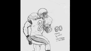 How to draw an American Football player-speed drawing tutorial