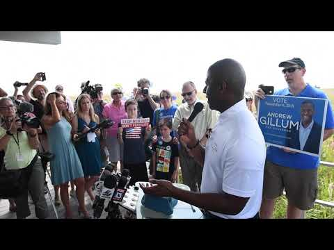 Andrew Gillum rally at Siesta Beach in Sarasota, Florida