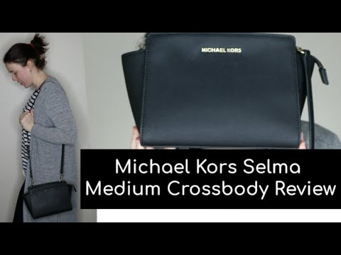9a02e7d2d9fb Michael Kors Selma Medium Messenger Crossbody Handbag Review - YouTube