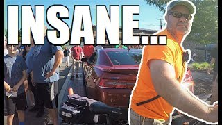 Douchebag Security Guard Tries to FIGHT me at Cars and Coffee...