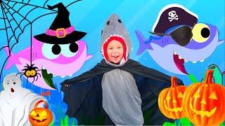 Halloween Baby Shark | Kids Songs and Nursery Rhymes | Halloween Songs from Eva Song