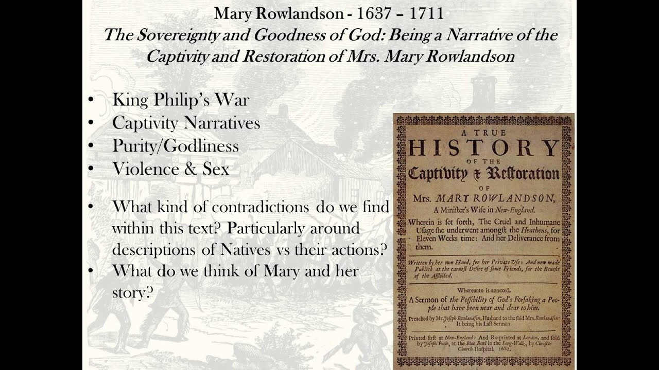 mary rowlandson captivity narrative