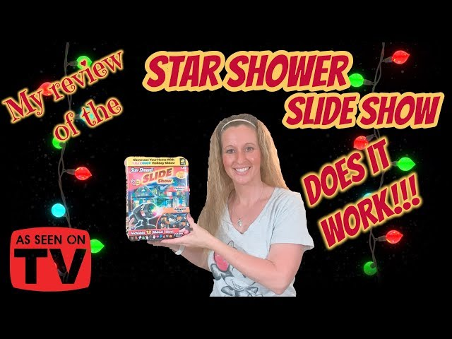 Does it WORK???? The As Seen on TV STAR SHOWER SLIDE SHOW