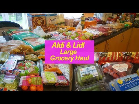 Aldi & Lidl LARGE Grocery Haul | MyFamilyOf8