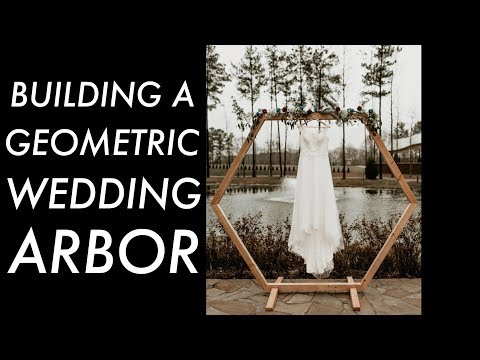 DIY Geometric Wedding Arbor // Woodworking