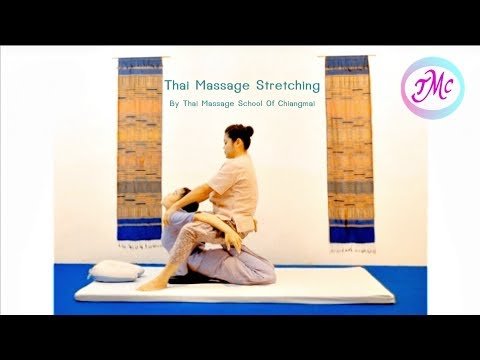 Thai Massage stretching by Thai massage school