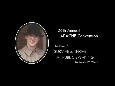 Survive and Thrive at Public Speaking - James W. Ware (2015) - APACHE