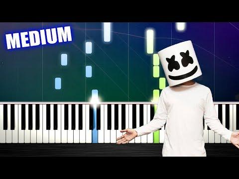 Marshmello ft. Bastille - Happier - Piano Tutorial (MEDIUM) by PlutaX