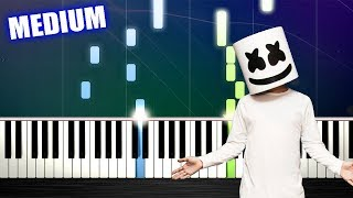Marshmello ft. Bastille - Happier - Piano Tutorial (MEDIUM) by PlutaX