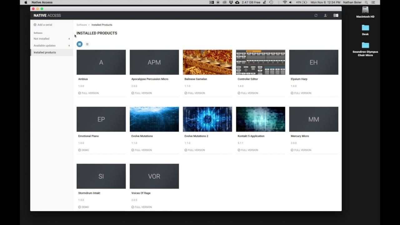 Soundiron - Olympus Micro library installation tutorial for Native Access  and Kontakt