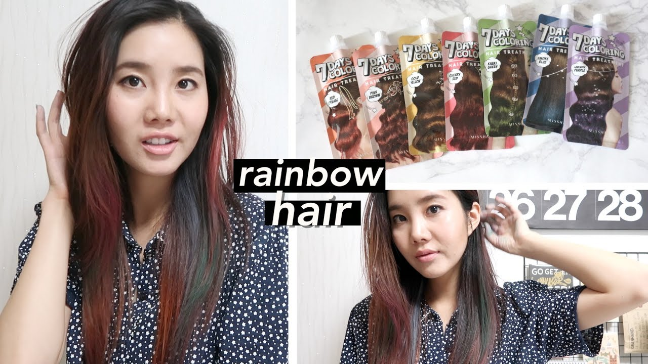 Dyeing My Hair Rainbow Missha S 7 Days Coloring Hair Treatment