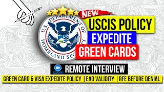 USCIS Policy Updates: CBP Zoom Video Interview, Fast Green Card & Visa, No Denial, EAD Validity Extn