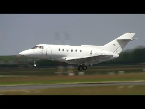 British Aerospace 125 ► Landing & Takeoff ✈ Groningen Airport Eelde