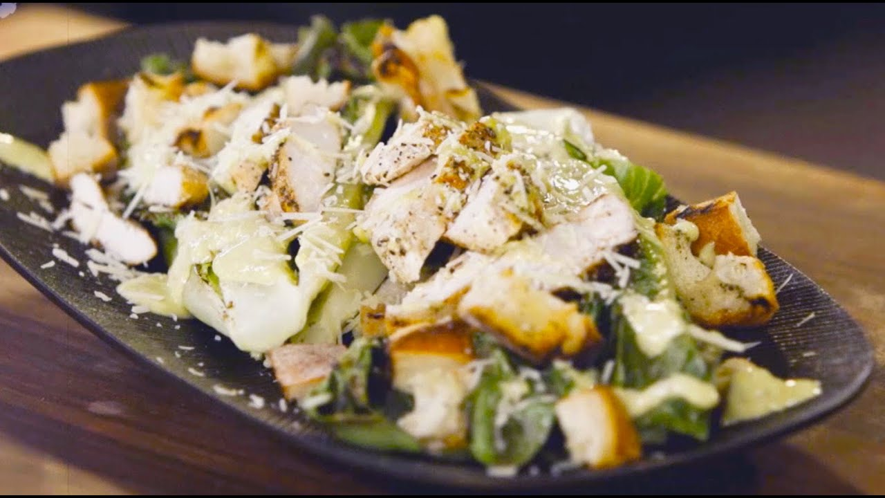Grilled Chicken Caesar Salad - Grill This with Nathan Lippy - YouTube