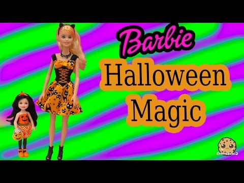 Barbie Target Exclusives Halloween Magic & Chelsea Pumpkin Dolls - Cookieswirlc Toy Video