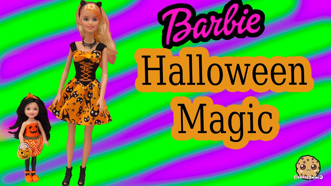 Barbie Target Exclusives Halloween Magic Chelsea Pumpkin Dolls