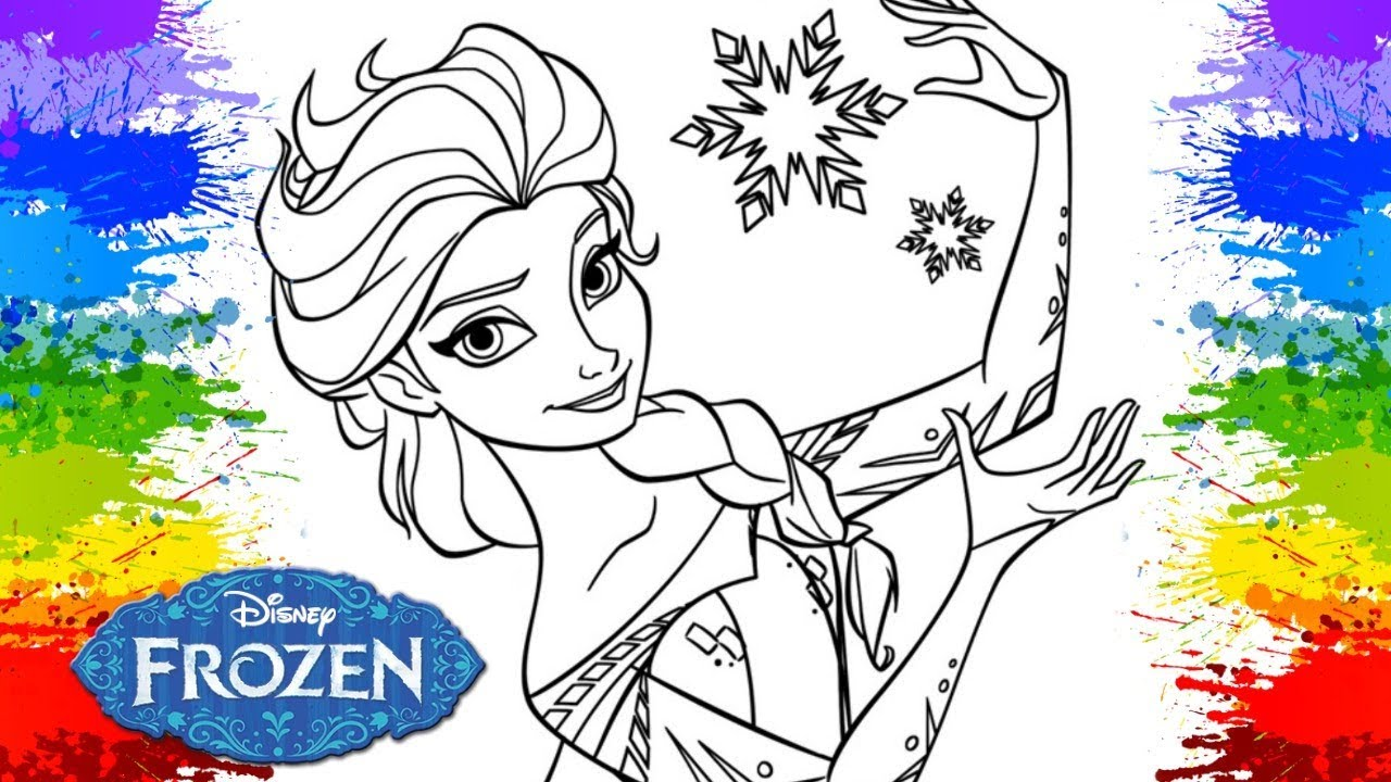 Frozen Elsa Crayola Coloring Book Baby Learn Colors Drawing Art For Babies Kids