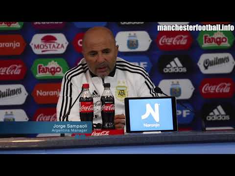 Jorge Sampaoli's press conference after the Argentina vs Italy friendly in Manchester