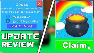 NEW WORKING BOOST CODES | BUBBLE GUM SIMULATOR | UPDATE 19 REVIEW | ST PATRICKS UPDATE | ROBLOX