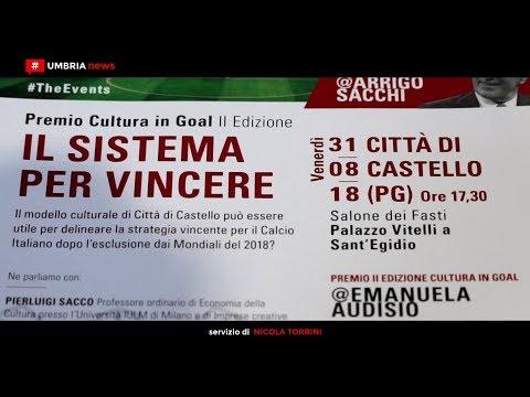 Cultura in Goal #TheEvents porta a Città di Castello i grandi dello sport [UMBRIA NEWS]