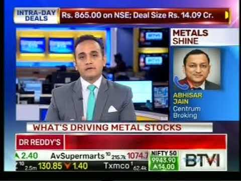 Abhisar Jain, at Centrum Broking shares insights on the outlook for metal stocks @BTVI.