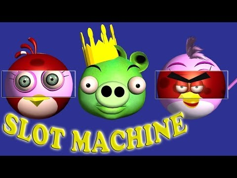 Slot Machine Game starring ANGRY BIRDS ♫ 3D animated game mashup ☺ FunVideoTV - Style ;-)) - 동영상