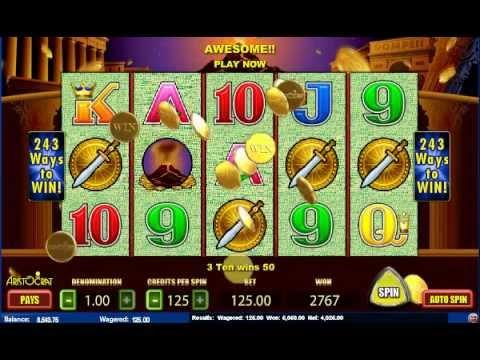 Aristocrat Online Slots Pokies Pompeii 6k Win Jackpot