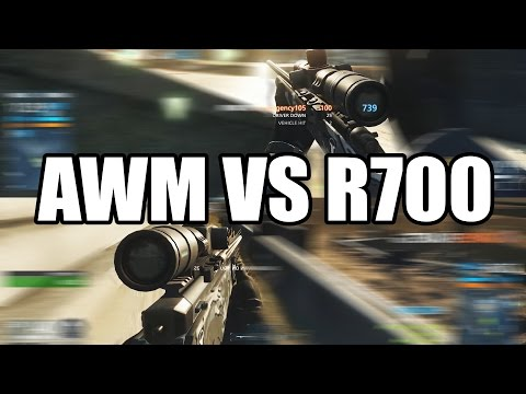 Battlefield Hardline AWM vs R700 Sniper Comparison - BFH Multiplayer Gameplay