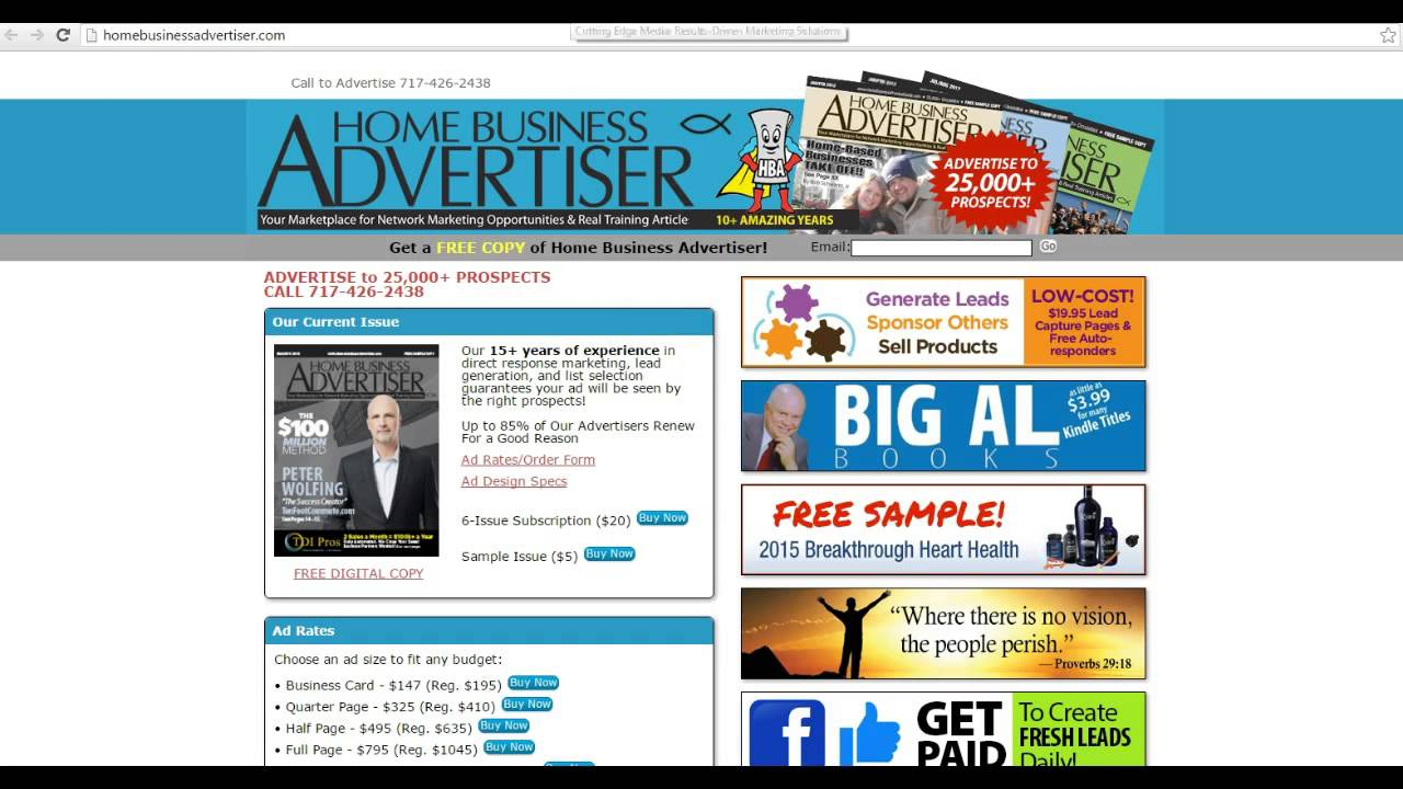 Home business magazine advertising generate thousands of leads home business magazine advertising generate thousands of leads daily colourmoves