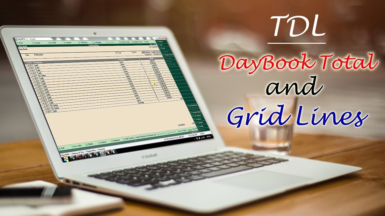 Special TDL   Daybook Total and Grid Lines in Tally  Explained in     Special TDL   Daybook Total and Grid Lines in Tally  Explained in Hindi   Tech Guru Plus