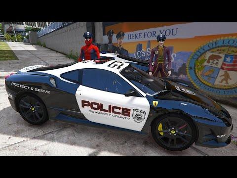 Joker Polis Oldu Örümcek Adamla Ferrari Polis Arabası Çizgi Film Gibi Yeni Bölüm
