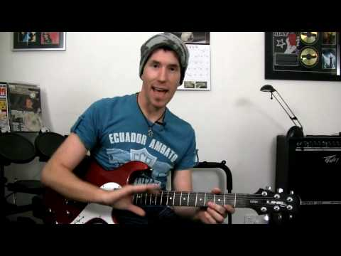 'Beat It' by Michael Jackson / Fall Out Boy - Guitar Lesson (with tab & backing)