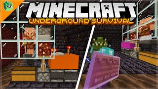 How To Build OP Bartering Farms! - Minecraft Underground Survival Guide (66)