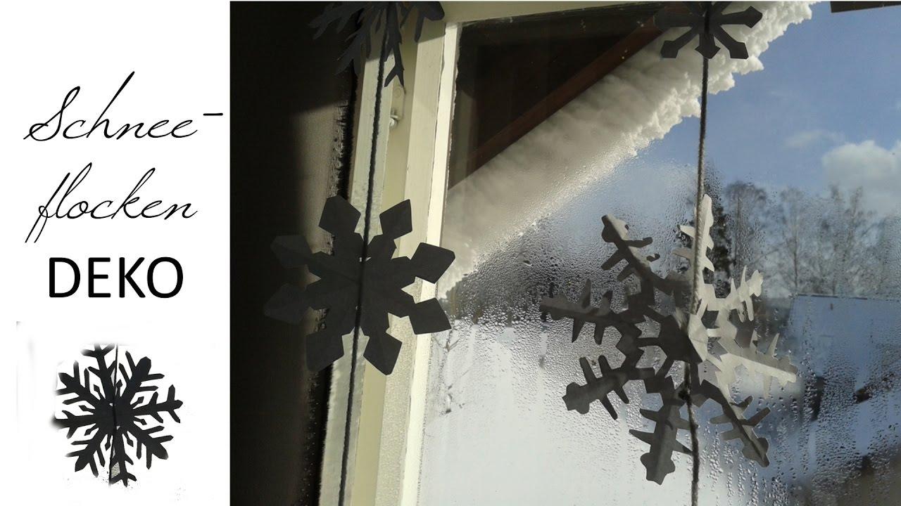 Einfache Schneeflocken Dekoration Basteln
