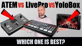 ATEM Mini vs LivePro L1 vs YoloBox: The Best HDMI Switcher?