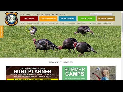 Using The WG&F Website To Apply For Hunts!
