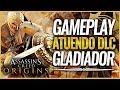 Assassin's Creed Origins | GAMEPLAY DLC Pack GLADIADOR | LA MEJOR ESPADA | ATUENDO ARMADURA ESPAÑOLA