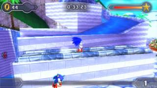 Sonic Rivals 2 - Blue Coast Zone Act 1