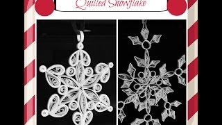Quilled Snowflake|Quilling Ornaments #7