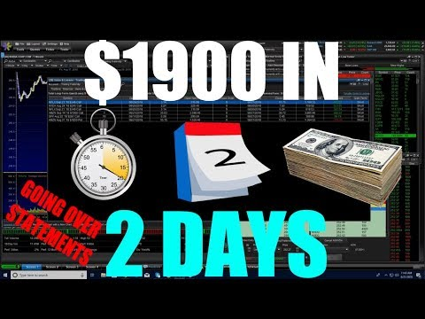 Making $1900 In 2 Days Trading Options – GOING OVER TRADES