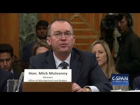 OMB Director Mick Mulvaney on whether he'd vote for budget (C-SPAN)