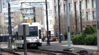 HBLR Light Rail/Tram Around Jersey City, USA (new york tram) 2012